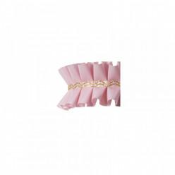 Fita Plissada Bolos rosa 10 mts