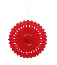 Flor de Papel Decorativa 16 Vermelha