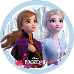 Folha de Hóstia/Obreia Bolo Frozen 2