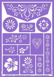 Folha de Stencil - Flores