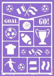 Folha de Stencil - Futebol