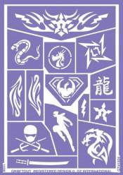 Folha de Stencil - Ninja