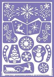 Folha de Stencil - Princesa das Neves