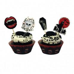 Forma de Papel Cup Cake  + Toppers Halloween