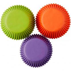 Forma de Papel Cup Cake Verm/Verde/Lilás Wilton 75 unid