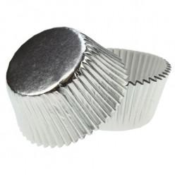 Formas Alumínio Prateado Cupcakes 45und