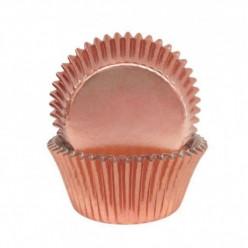 Formas Alumínio Rose Gold Cupcakes 45und