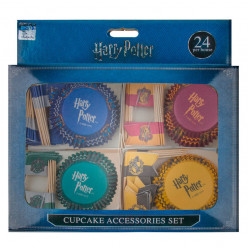 Formas Cupcake + Toppers Harry Potter