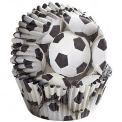 Formas de Papel Cup Cake Futebol 36 unid