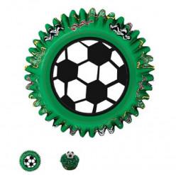 Formas de Papel Cup Cake Futebol Wilton 50 unid