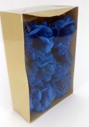 Forminhas Papel Seda Flores Azul - 12 Und