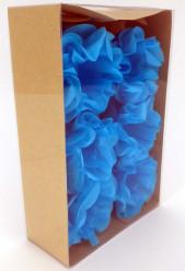 Forminhas Papel Seda Flores Azul Céu - 12 Und