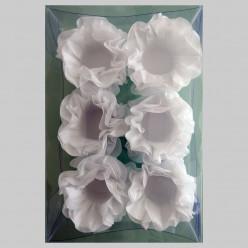 Forminhas Papel Seda Flores Brancas - 12 Und