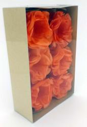 Forminhas Papel Seda Flores Laranja - 12 Und