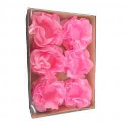 Forminhas Papel Seda Flores Rosa - 12 Und