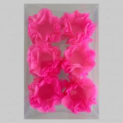 Forminhas Papel Seda Flores Rosa Fúscia - 12 Und