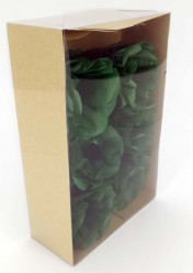 Forminhas Papel Seda Flores Verde Bosque - 12 Und