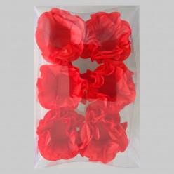 Forminhas Papel Seda Flores Vermelhas - 12 Und