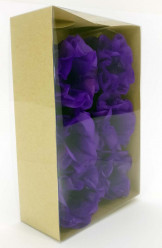 Forminhas Papel Seda Flores Violeta - 12 Und