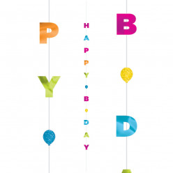 Fun Strings para Balões Happy Birthday 1.82m