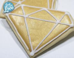 Glacê em pó Diamante Ouro 70g