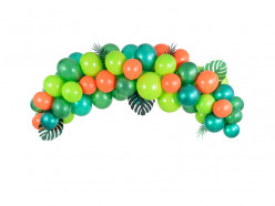 Grinalda Balões Verde e Laranja 200cm