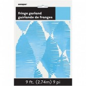 Grinalda de papel Azul Bebé 2,74m