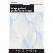 Grinalda de papel Branco 2,74m