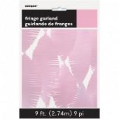 Grinalda de papel Rosa Bebé 2,74m