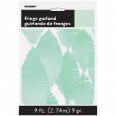 Grinalda de papel Verde Menta 2,74m