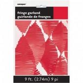 Grinalda de papel Vermelho 2,74m