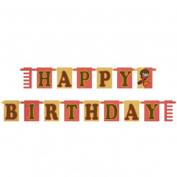 Grinalda Happy Birthday Holográfica Harry Potter