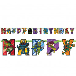 Grinalda Happy Birthday Tartarugas Ninja TMNT
