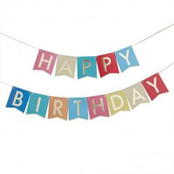 Grinalda Multi Colorida Happy Birthday