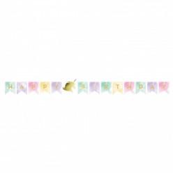 Grinalda Unicórnio Sparkle Happy Birthday 2.40cm