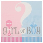 Guardanapos Baby Shower Girl or Boy ? - 20 Und