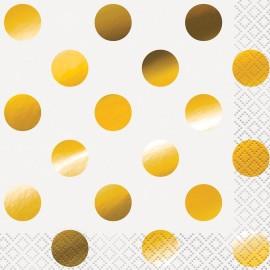 Guardanapos Bolas Douradas – 16 Und