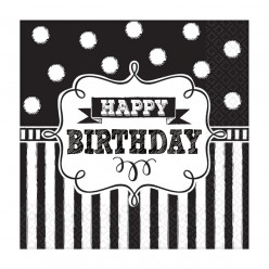 Guardanapos Chalkboard Birthday - 16und