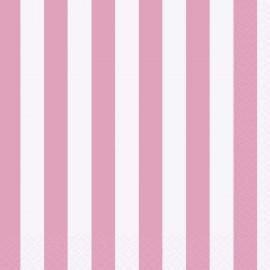 Guardanapos Cocktail Rosa e Branco – 16 Und