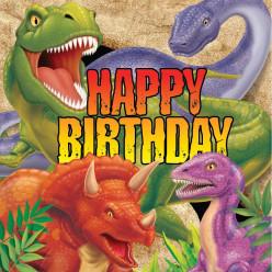 Guardanapos Happy Birthday Dino Blast 16 unid