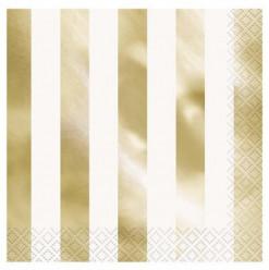 Guardanapos Riscas Douradas 16 Und