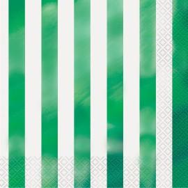 Guardanapos Riscas Verdes – 16 Und