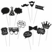 Kit 13 acessórios de aniversario para festas – Chalkboard
