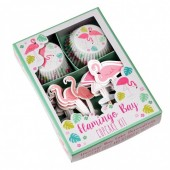 Kit Cup Cakes + Toppers Baía do Flamingo