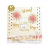 Kit de Decoração de Sala Confetti Fun -12 Peças