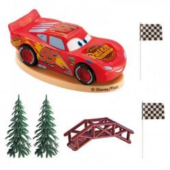 Kit Decoração Bolo Cars