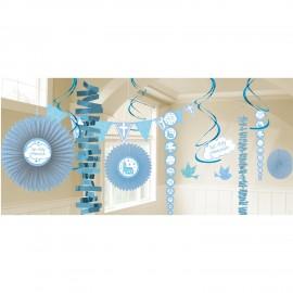 Kit decoração comunhão azul