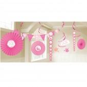 Kit Espirais decoração comunhão rosa