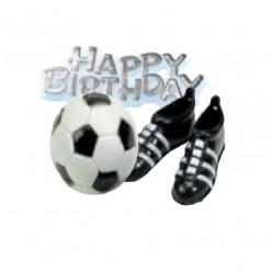 Kit Topper Futebol Happy Birthday