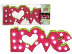 Lâmpada LED Love rosa